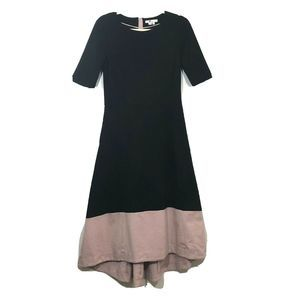Boden   Black Pink High Low Hem Maxi Dress
